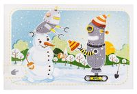 """Набор для изготовления электронной открытки """"Снеговик и роботы"""""""
