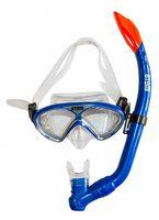 Набор для плавания 24106 (маска+трубка; силикон; синий металлик)