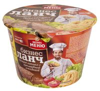 """Лапша быстрого приготовления с соусом """"Бизнес Ланч. Со вкусом ароматной говядины"""" (90 г)"""