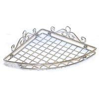 Полка для ванной угловая металлическая (5,8х19,1х26,7 см)