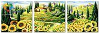 """Картина по номерам """"Подсолнуховая долина"""" (400x1200 мм; арт. PH340120082)"""