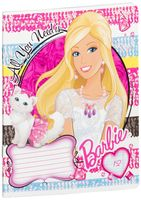 """Тетрадь в узкую линейку """"Barbie"""" (12 листов; в ассортименте)"""