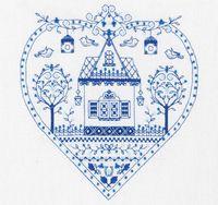"Вышивка крестом ""Синее сердечко"" (220х230 мм)"