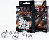 """Набор кубиков """"Dragon"""" (7 шт.; бело-черный)"""