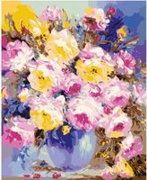 "Картина по номерам ""Ваза с цветами"" (400х500 мм)"