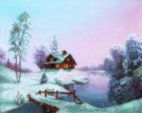 """Вышивка крестом """"Морозное утро"""" (340х270 мм)"""