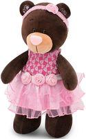 """Мягкая игрушка """"Медведь Milk . Розовый букет"""" (30 см)"""