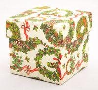 "Подарочная коробка ""Christmas Wreath"" (7,5х7,5х7,5 см)"