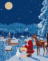 "Картина по номерам ""Новогодняя ночь"" (165х130 мм)"