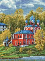 """Вышивка крестом """"Казанско-Преображенская церковь"""" (255х340 мм)"""