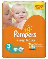 """Подгузники """"Pampers Sleep&Play Chamomile Midi"""" (4-9 кг, 78 шт, арт. 0001010534)"""