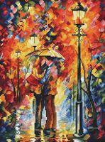 """Вышивка крестом """"Поцелуй под дождём"""" (200x270 мм)"""