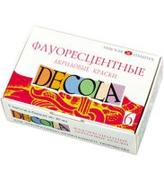 """Набор красок акриловых """"Decola"""" (флуоресцентные, 6 цветов х 20 мл)"""