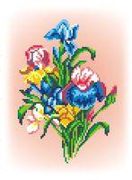 """Вышивка крестом """"Цветы ириса"""""""