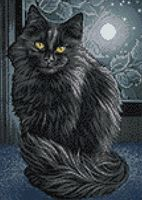 "Алмазная вышивка-мозаика ""Черная кошка"" (270х380 мм)"