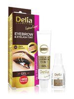 """Гель-краска для бровей и ресниц""""Delia cosmetics"""" тон: 3.0, тёмно-коричневый"""