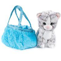 """Мягкая игрушка """"Котик в сумочке"""" (17 см)"""