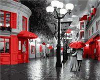 """Картина по номерам """"Улица в красных красках"""" (500х650 мм)"""