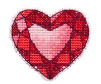 """Вышивка крестом """"Значок. Сердце"""" (53х60 мм)"""