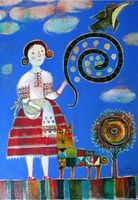 "Магнит на холодильник ""Картина Анны Силивончик"" (арт. 11.08)"