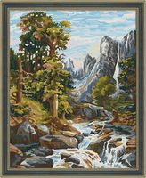 """Картина по номерам """"Горный ручей"""" (400х500 мм)"""