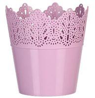 """Цветочный горшок """"Кружево"""" (14,5 см; розовый)"""
