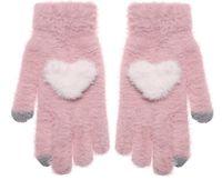 """Перчатки сенсорные """"Сердце"""" (розовые)"""
