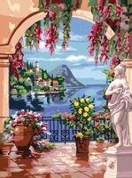 """Картина по номерам """"Греческий пейзаж"""" (400х500 мм; арт. PC4050025)"""