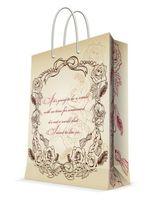 "Пакет бумажный подарочный ""Виньетка"" (17,8х22,9х9,8 см; арт. 44173)"