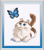 """Набор для вышивания """"Котенок и бабочка"""" (210х280 мм)"""