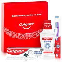 """Подарочный набор """"Безопасное отбеливание"""" (зубная паста, ополаскиватель, зубная щетка)"""