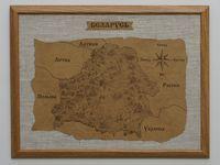 """Панно сувенирное """"Карта Беларуси"""" (формат А3)"""