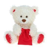 """Мягкая игрушка """"Медведь Праздничный"""" (30 см; молочный)"""