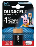 Батарейка алкалиновая Duracell TurboMax 9V 6LR61 (1 шт.)