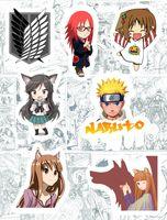 "Набор виниловых наклеек №169 ""Anime"""