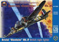 """Английский ночной истребитель Бристоль """"Бленхейм"""" Мк.IF (масштаб: 1/72)"""