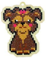 "Алмазная вышивка-мозаика ""Брелок. Собака Леди"" (75х98 мм)"
