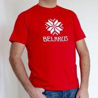 """Футболка мужская Vitaem """"Belarus"""" (красная) (XXL)"""