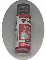 "Краска акриловая ""FolkArt. Metallic"" (красный гранат, 59 мл; арт. PLD-00665)"
