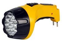 Аккумуляторный светодиодный фонарь 15 LED с прямой зарядкой Smartbuy (желтый)