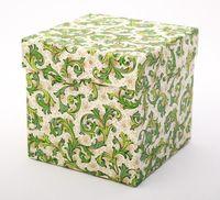 """Подарочная коробка """"Traditional. Florentine Style"""" (11х11х11 см; зеленые элементы)"""