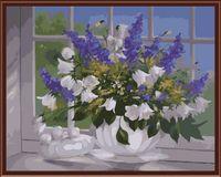 """Картина по номерам """"Цветы на подоконнике"""" (400х500 мм)"""