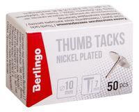 Кнопки канцелярские (50 шт.; никелированные)