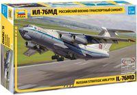 Российский военно-транспортный самолет Ил-76МД (масштаб: 1/144)