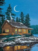 """Картина по номерам """"Домик у озера"""" (230х300 мм; арт. 91413-DMS)"""