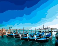 "Картина по номерам ""Венецианские гондолы"" (400х500 мм)"