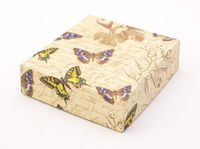 "Подарочная коробка ""Botanic and Butterflies"" (13x15x4 см)"