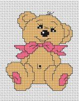 "Вышивка крестом ""Медвежонок"" (85х100 мм)"