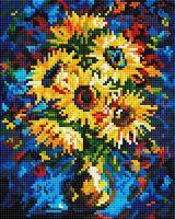 """Алмазная вышивка-мозаика """"Ночные подсолнухи"""" (200х250 мм)"""
