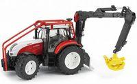 """Модель машины """"Трактор Steyr CVT 6230 лесной с манипулятором"""" (масштаб: 1/16)"""